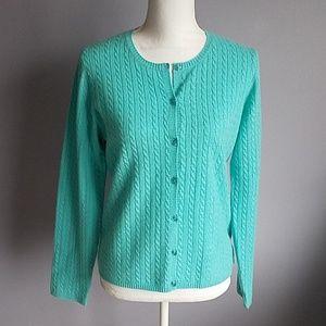 Geneva Cable Knit Cashmere Cardigan